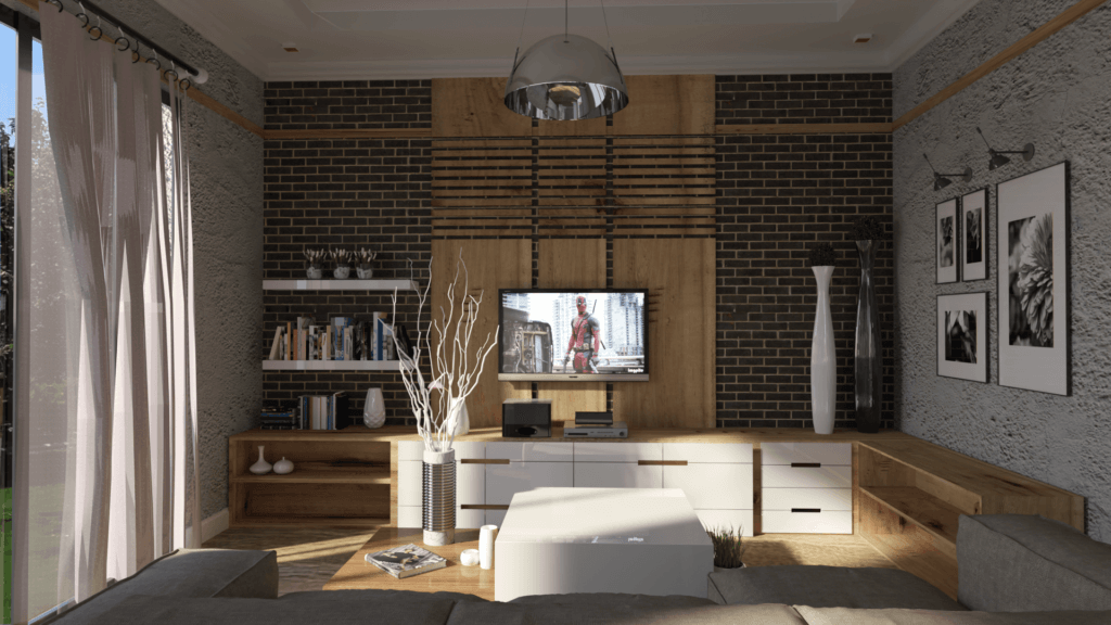 Unicorn Render Living room Brightnes 25