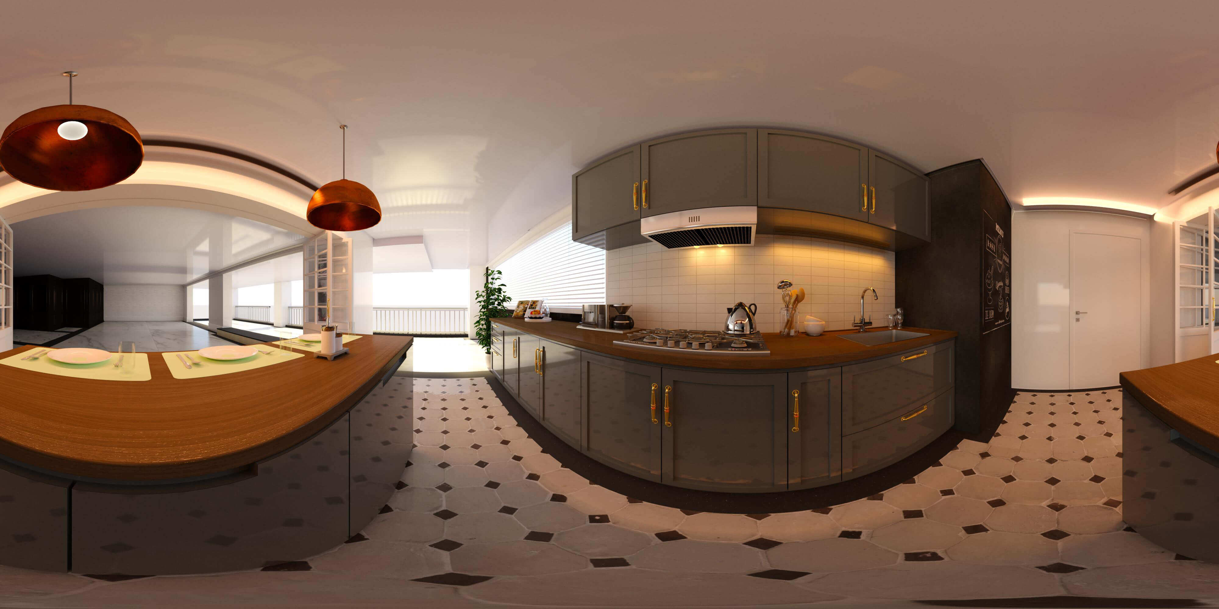 Unicorn Render Virtual Reality Kitchen by Atalla